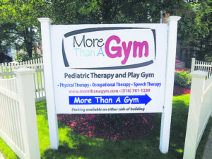 The gym offers an array of services for youngsters.