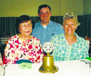 Eileen Aliani, James Werner and Anita Zarbis at the rotary luncheon at Spinnakers (Photo by Dagmar Fors Karppi)