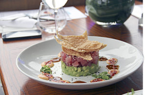 Ocean's fresh tuna appetizer