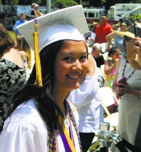 Valedictorian Vanessa Yu gave a heartfelt farewell speech.