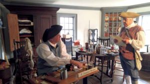 Merchant Robert Townsend will be open for business in his 18th century store.