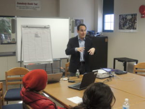 Entertainment lawyer Jonathan Seiden was one of 58 speakers at Career Day.