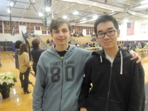 Eliot Fumante (left) and Kevin Hart were two of the 374 Oyster Bay High School students that attended Career Day.