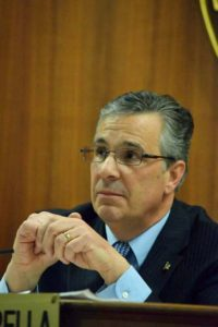Interim Supervisor Joseph Muscarella presided over Tuesday's regular board meeting.