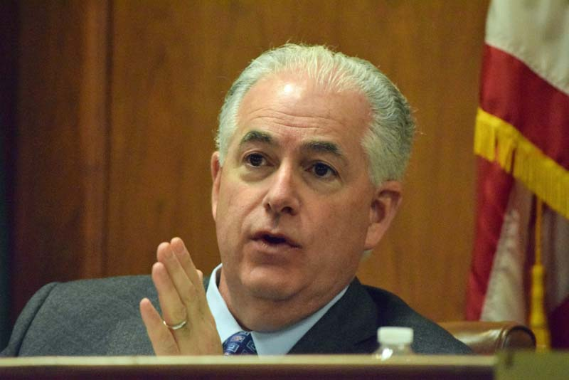 Councilman Chris Coschignano was absent at Friday's special meeting.